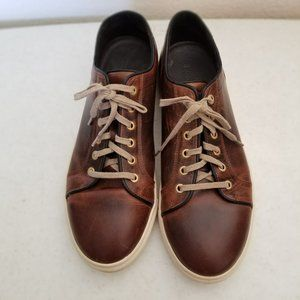 Rodd & Gunn Aria Distress Brown Leather Sneaker 44